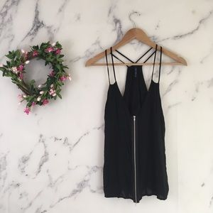Final Touch Zip Front Tank top